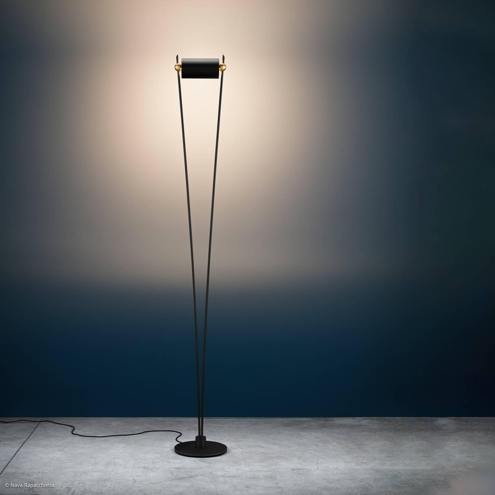 Catellani & Smith Vi. LED-Stehleuchte schwarz