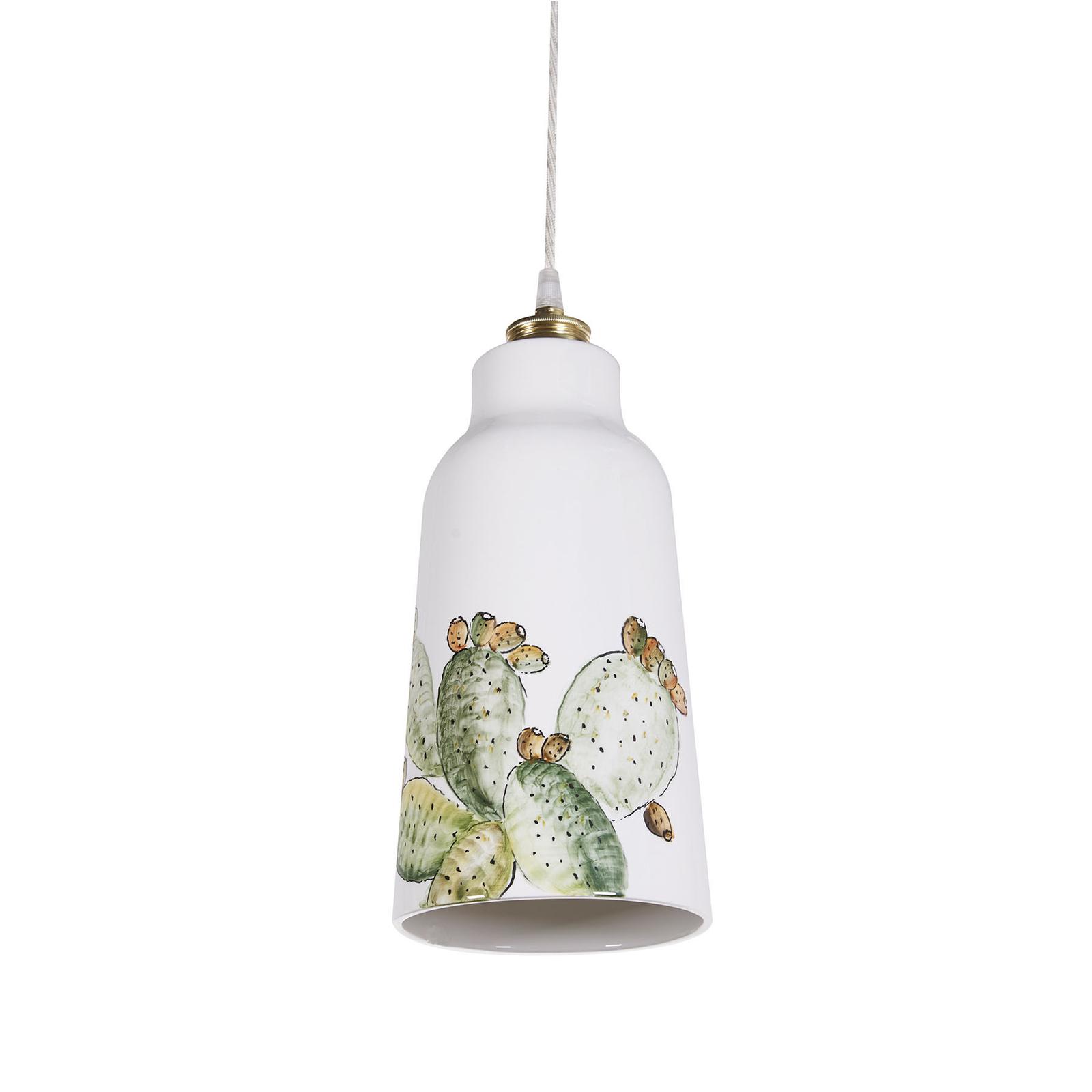 Ceramiczna lampa wisząca S1818 z wzorem kaktusa