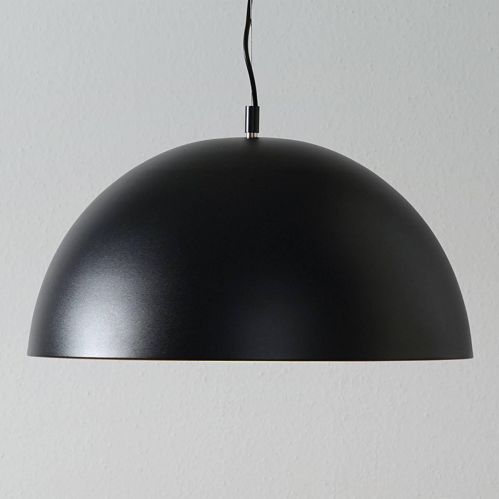 Lucande Phelan lampa wisząca 50cm czarna/złota