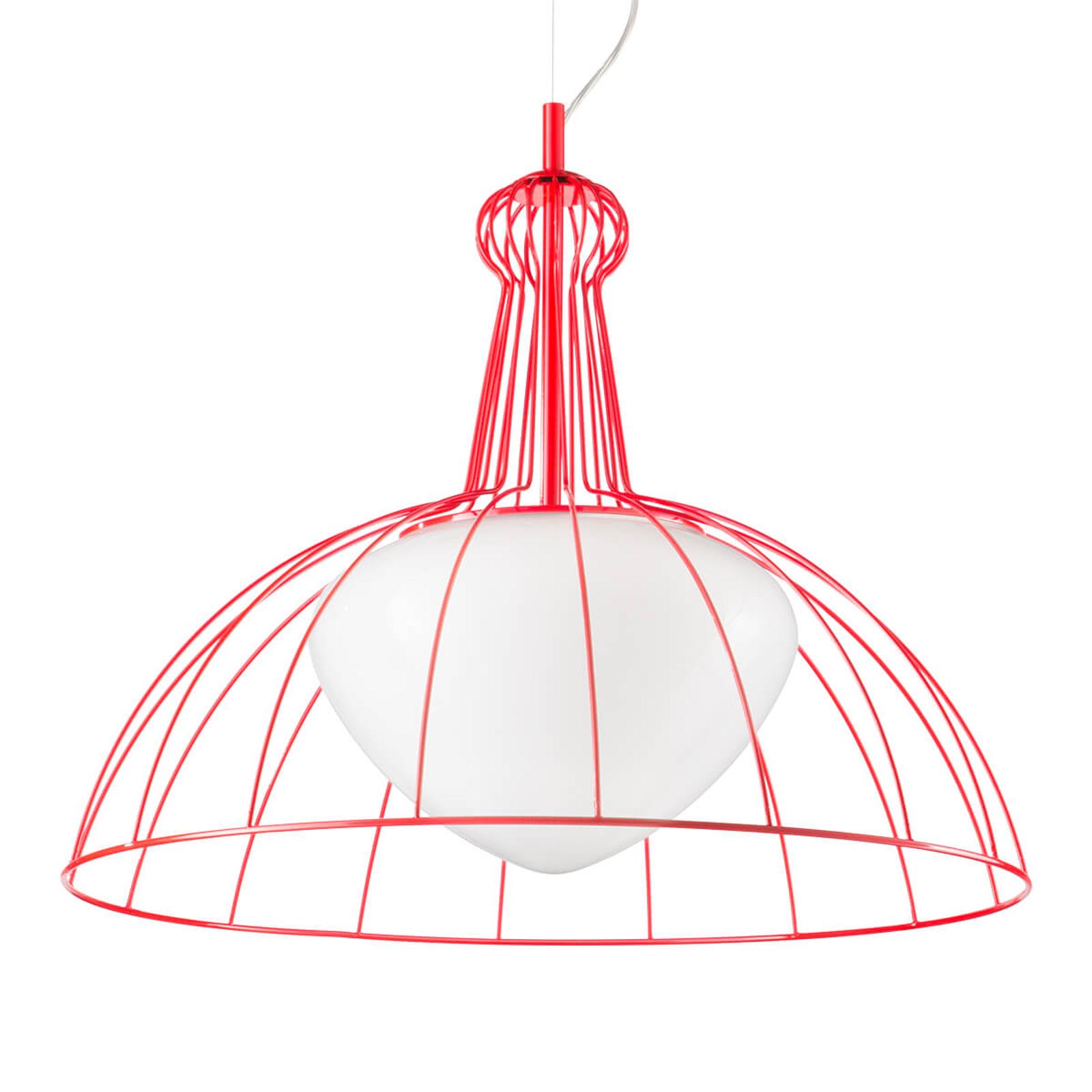 Lab designer-pendellampe, rød - made in Italy