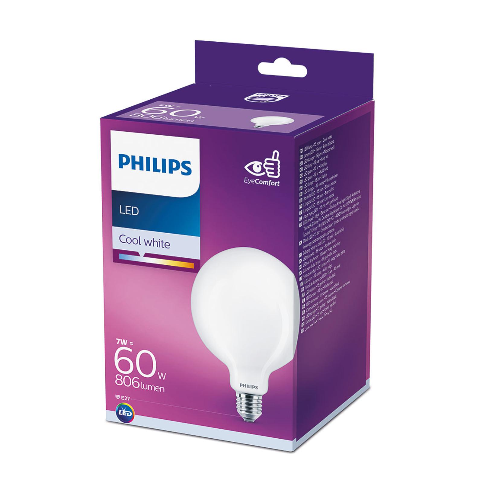 Philips Classic LED E27 G120 7W satinato 4.000K