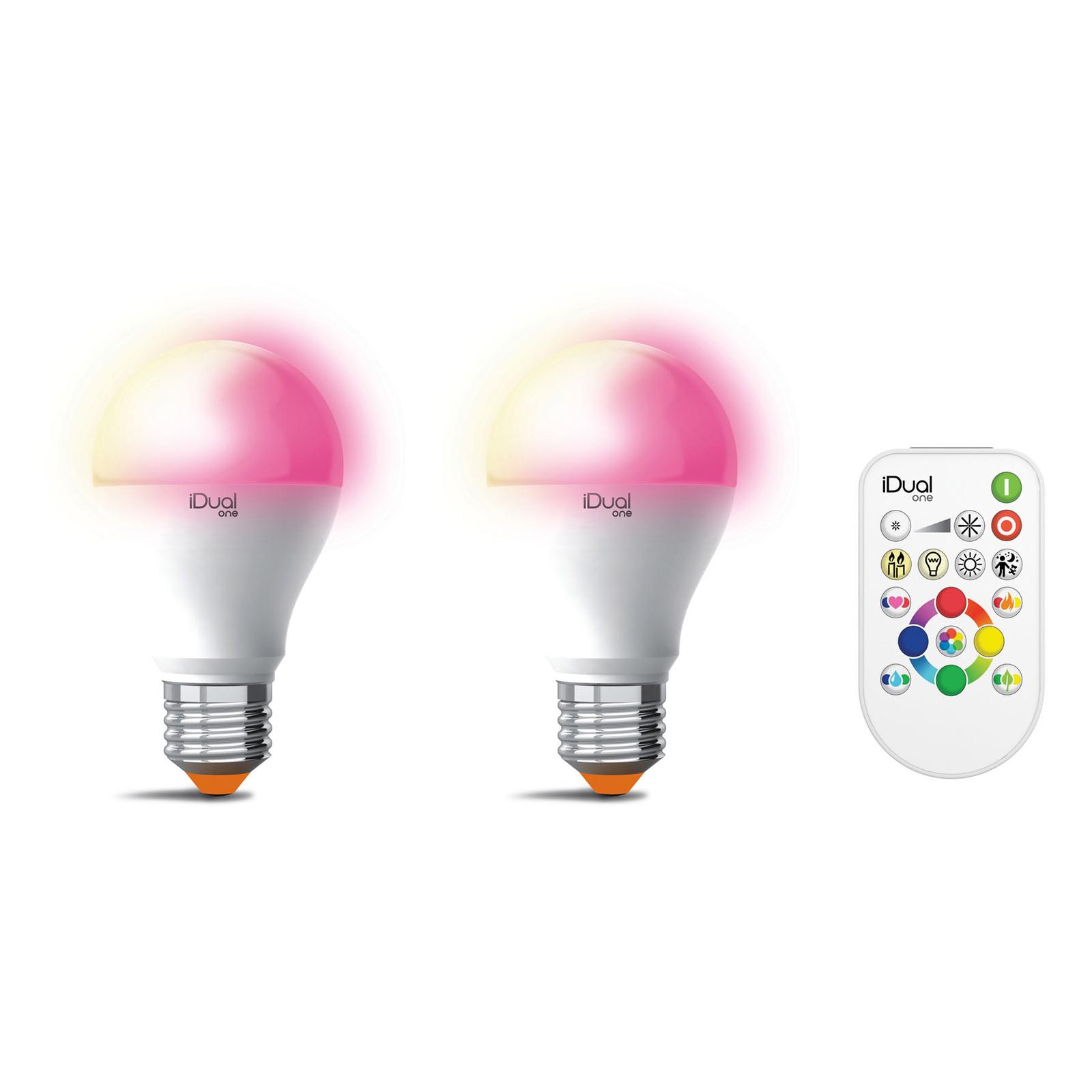 iDual One E27 A60 9,5W 2erPack RGBW, Fernbedienung