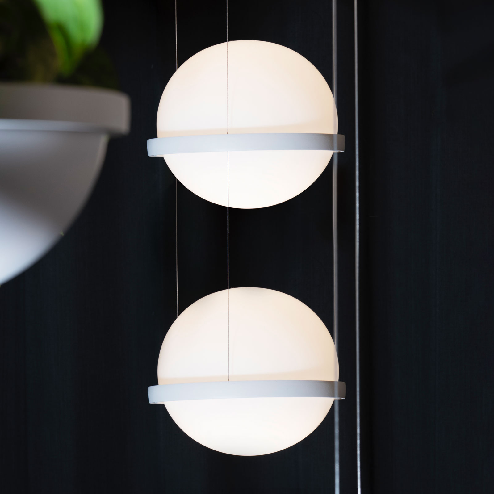 Vibia Palma 3726 lampa wisząca LED, 2-pkt., biała