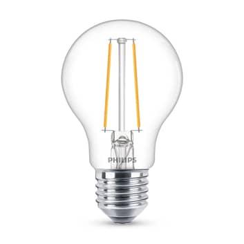 Philips Classic LED-Lampe E27 A60 1,5W 2.700K klar