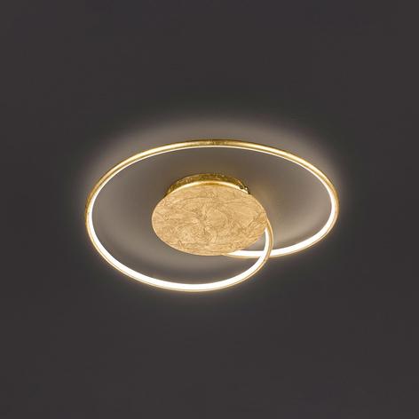 Stropní LED světlo Opus, zlaté