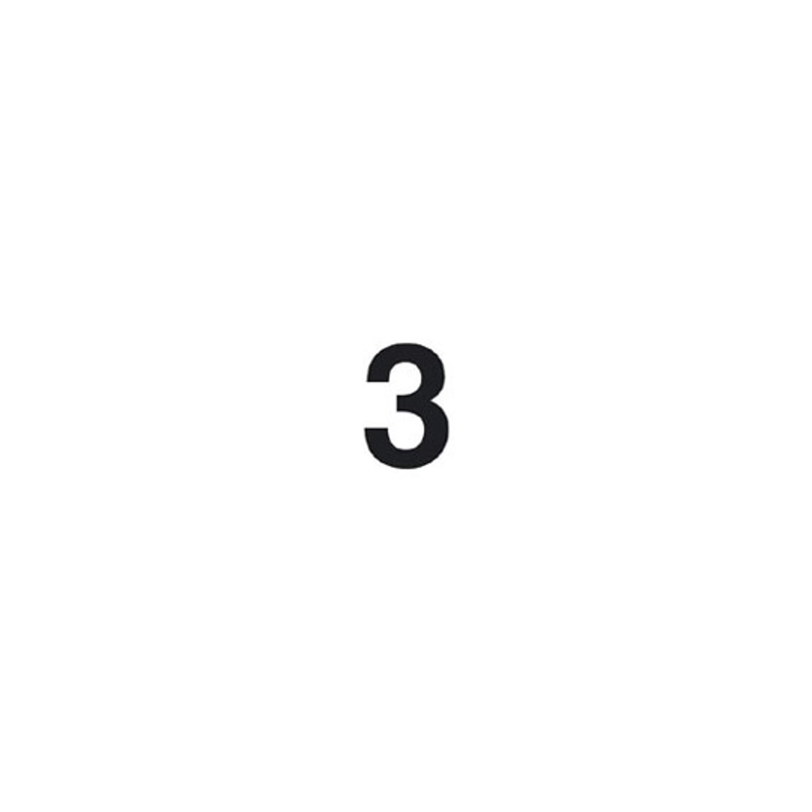 Selbstklebende Ziffer 3
