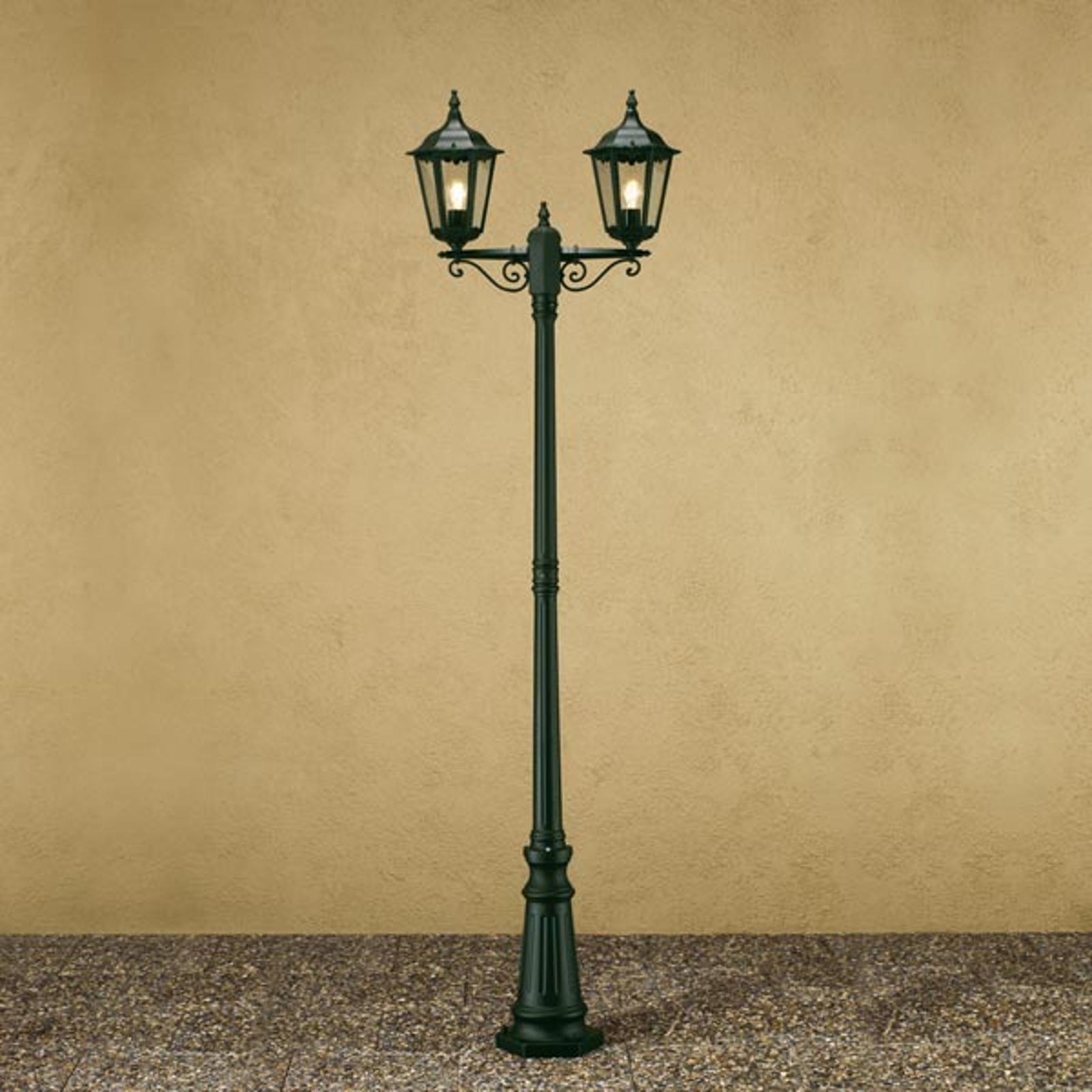 Lampe pour mât Firenze à 2 lampes, verte