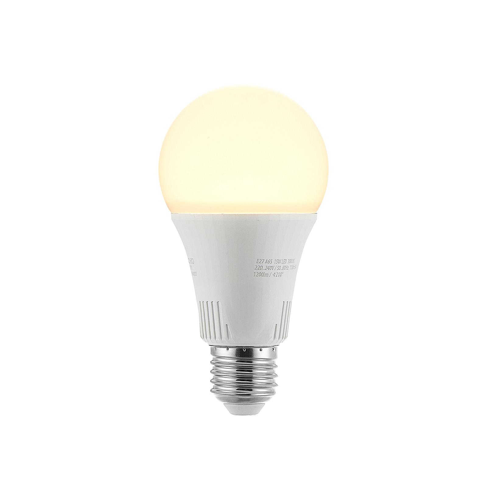 LED lamp E27 A65 15W 2.700K 3-step-dimbaar