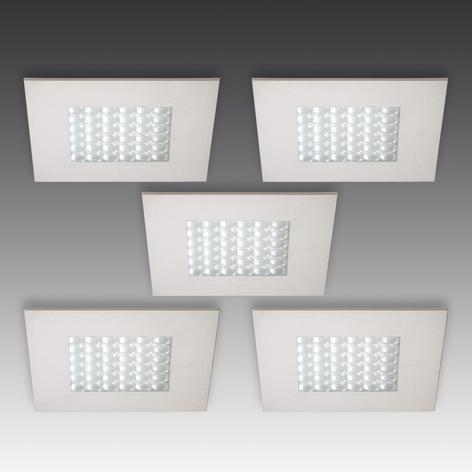 R 68-LED indbygningsspot i stållook 5 stk.