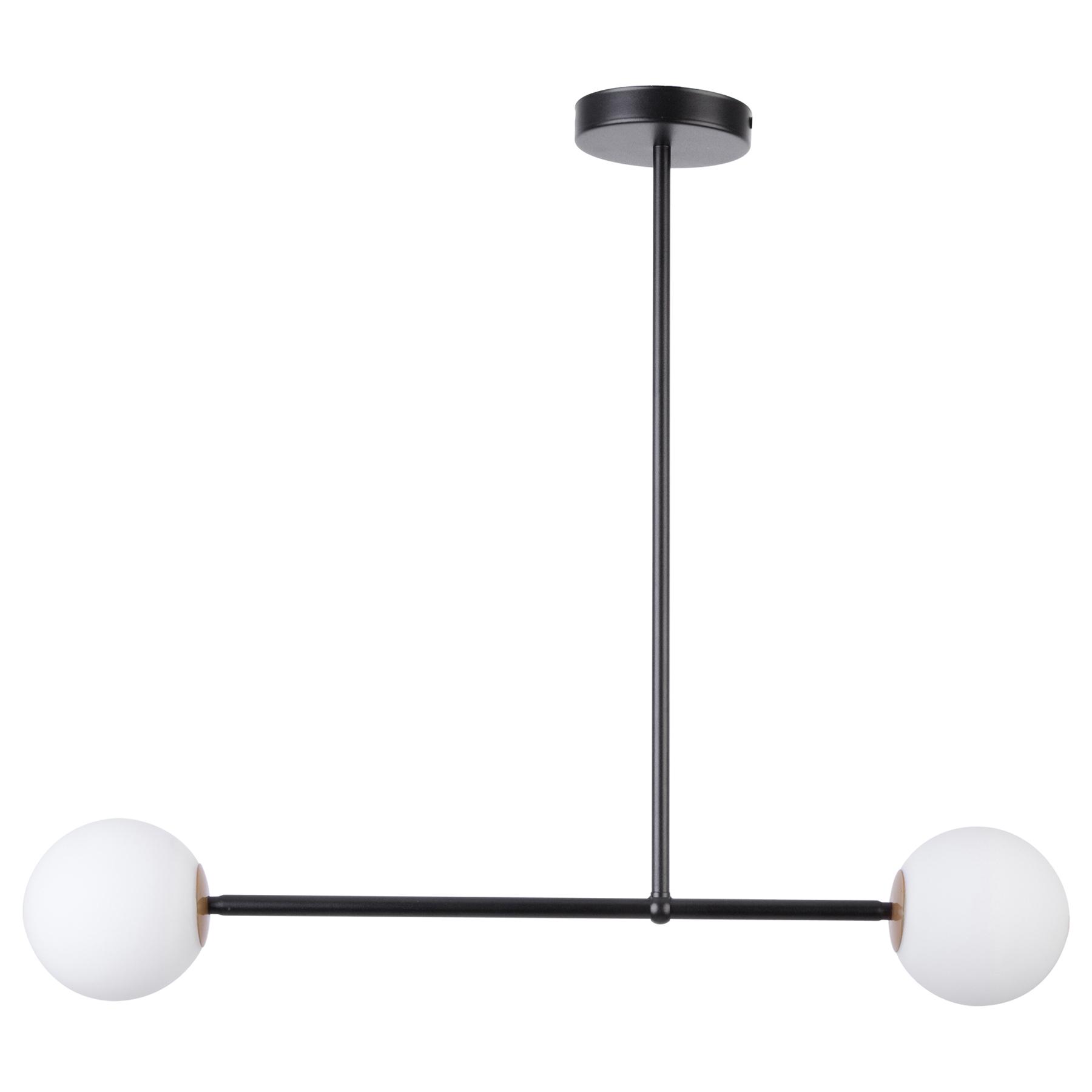 Lampa wisząca Gama 2, 2-punktowa, czarna