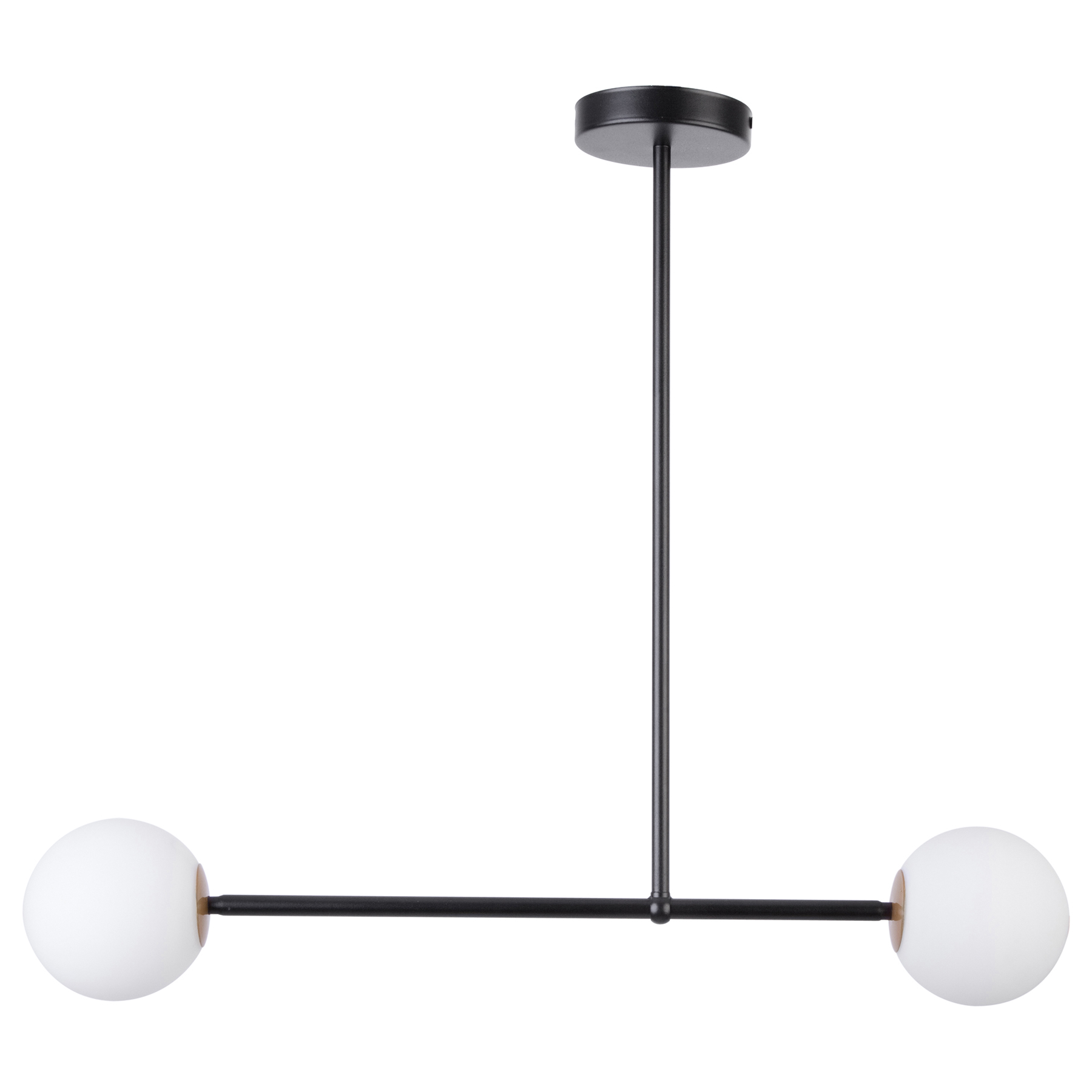 Hanglamp Gama 2, 2-lamps, zwart