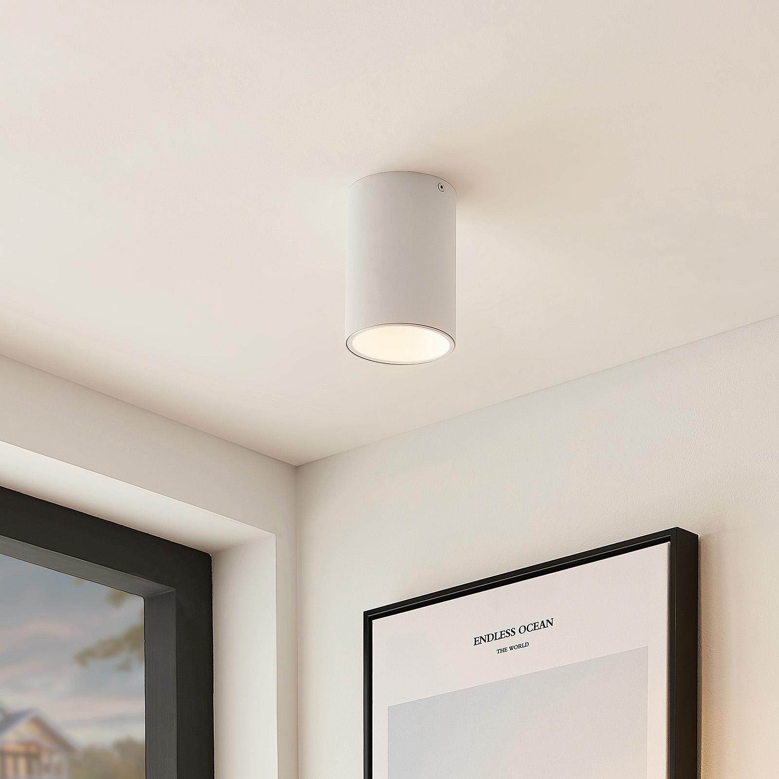 Arcchio Hinka lampa sufitowa okrągła, 14 cm, biała