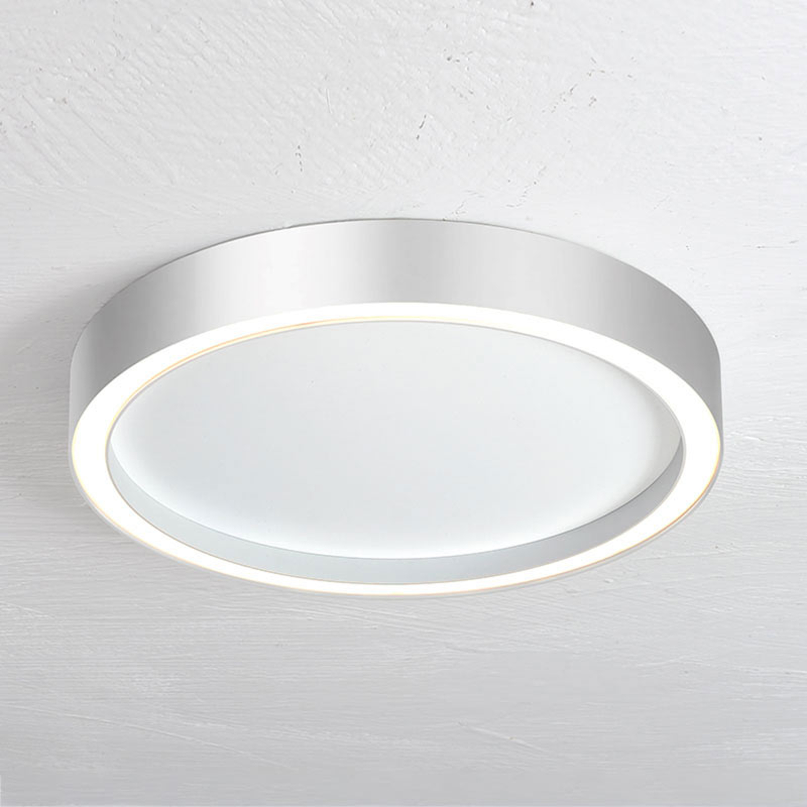 Bopp Aura LED-taklampe med Ø 55cm hvit/aluminium