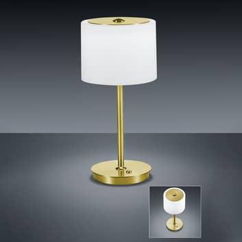BANKAMP Grazia LED-bordlampe ZigBee-komp. messing