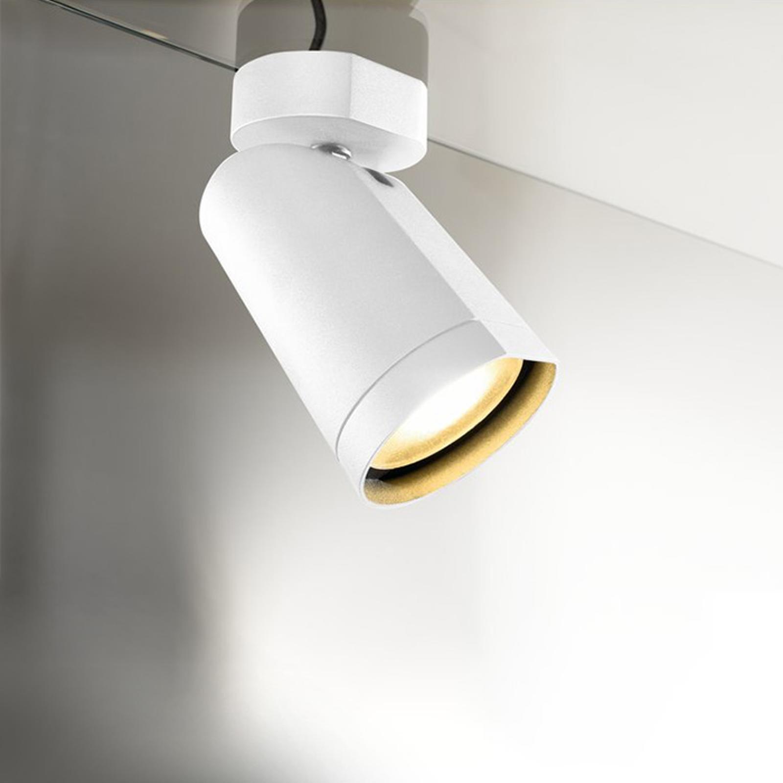 Draaibare plafondspot LED Bilas 1 lichtbr. wit