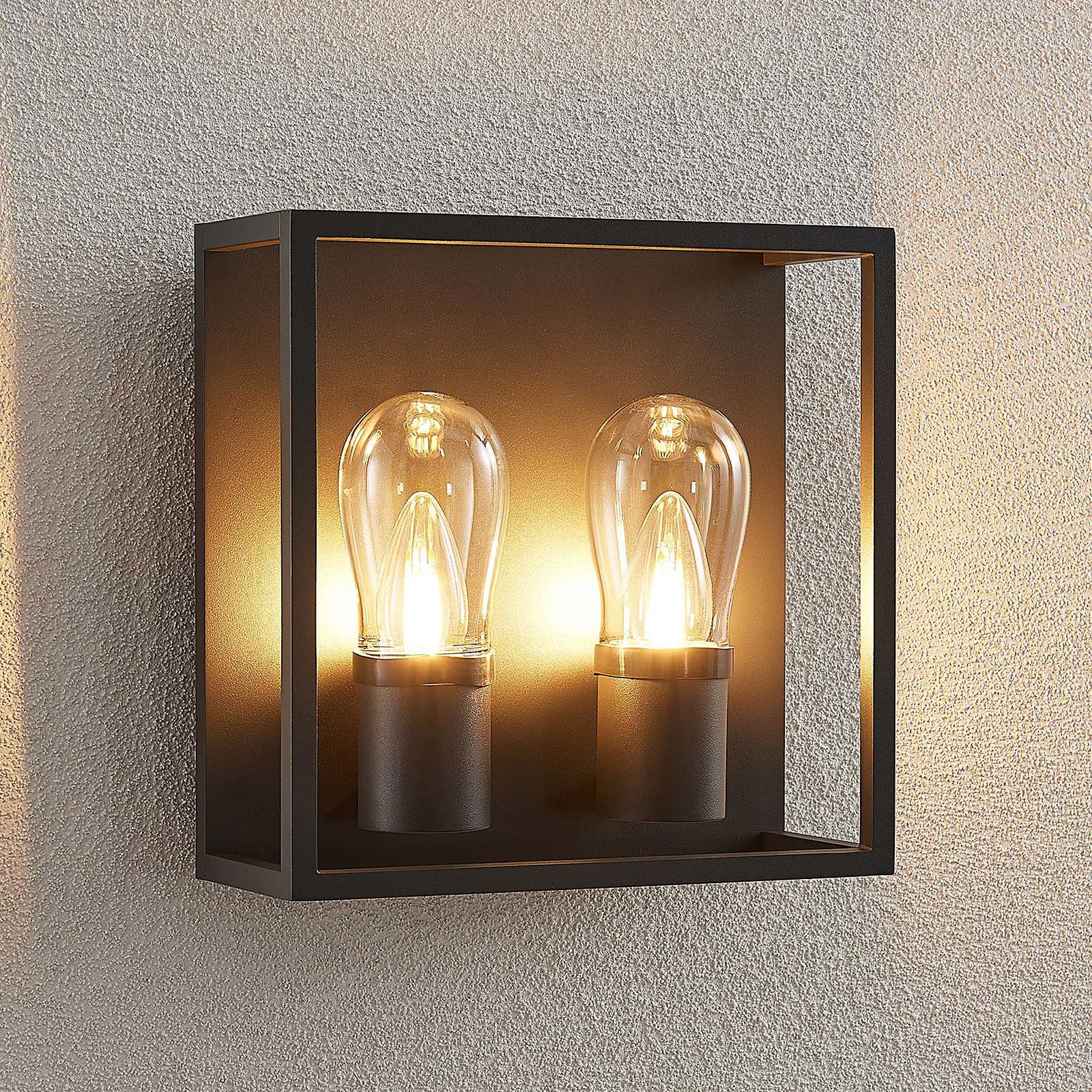 Lucande Irmgart venkovní nástěnné světlo, dvoužár.