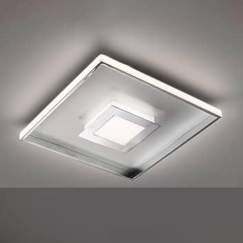 LED plafondlamp Bug vierkant, chroom