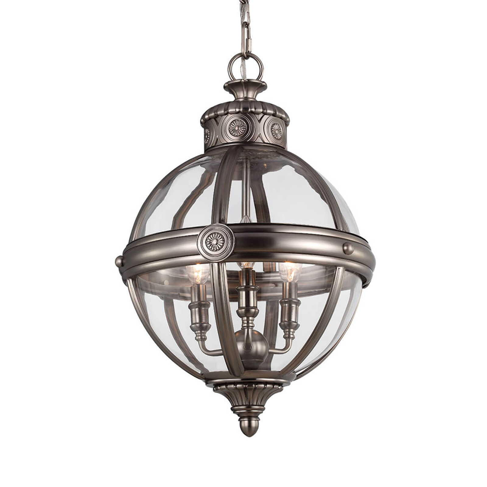 Lampada a sospensione Adams Ø 37 cm nichel