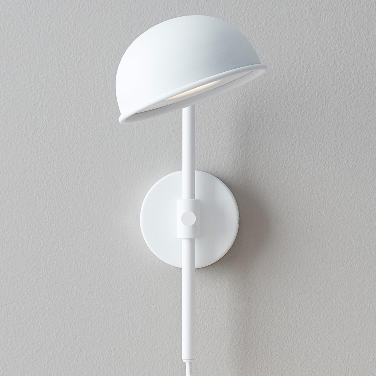 LED wandlamp Bolero met dimmer, wit