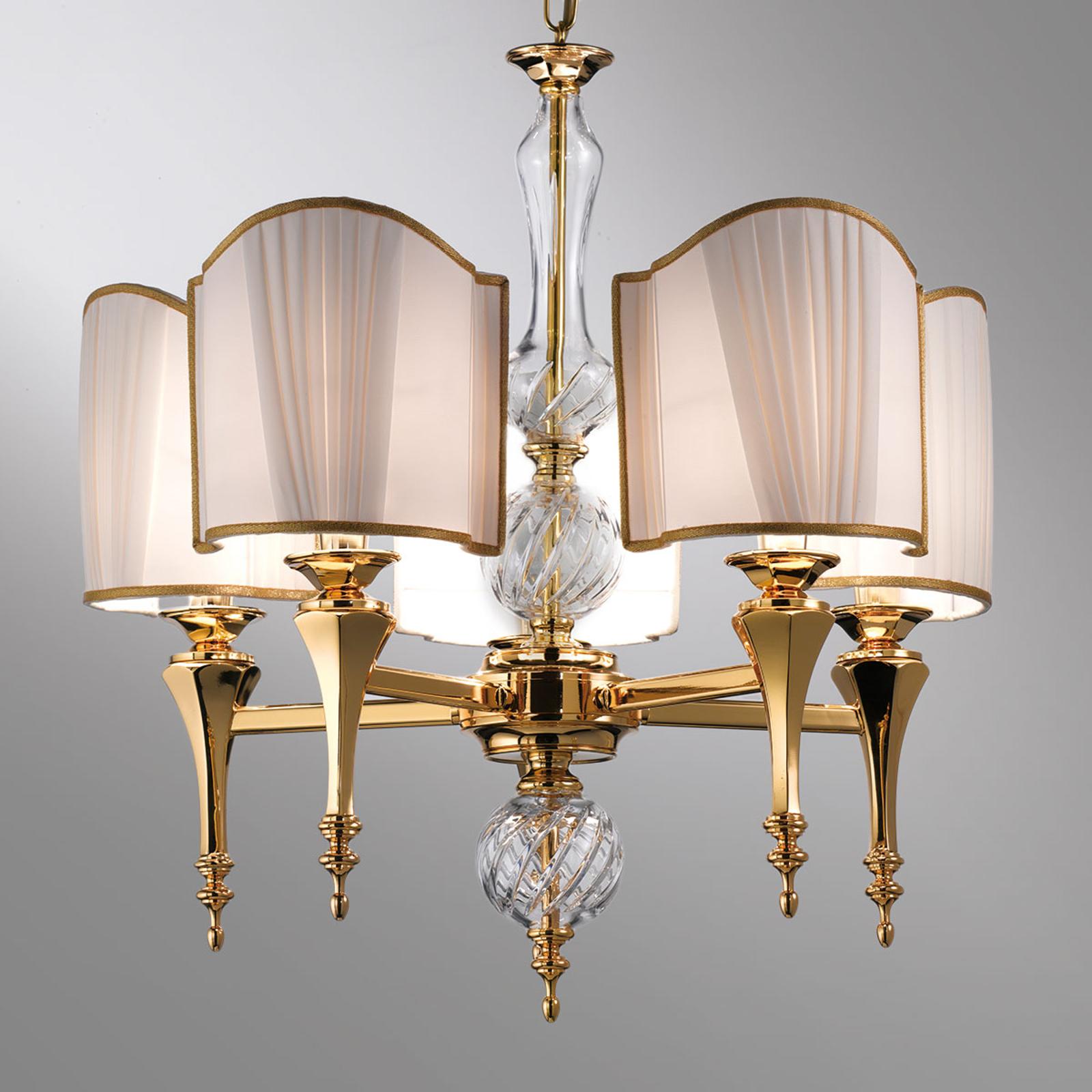 Belle Epoque - elegancka lampa wisząca 5-punktowa