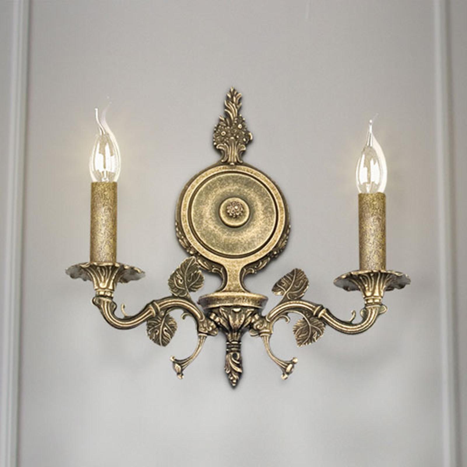 Wandleuchte Albero, zweiflammig, bronze antik