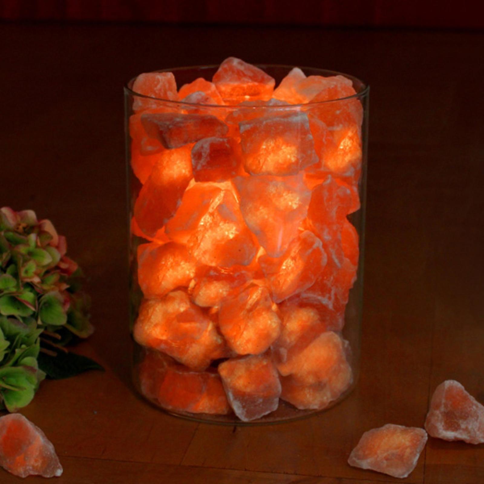 Saltkrystal-Ild i glas