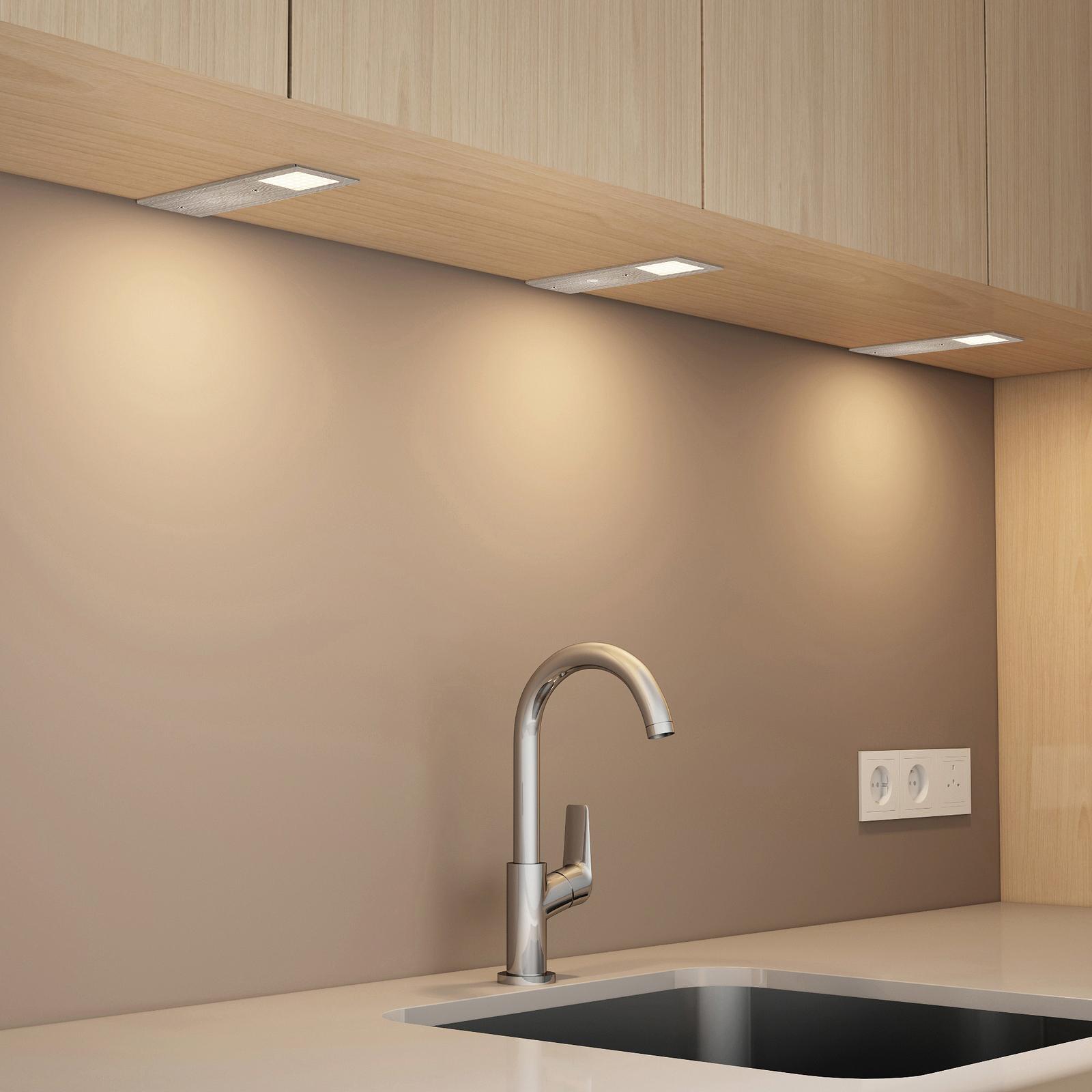 Arcchio Nortra LED-underskabsbelysning, sæt m. 3
