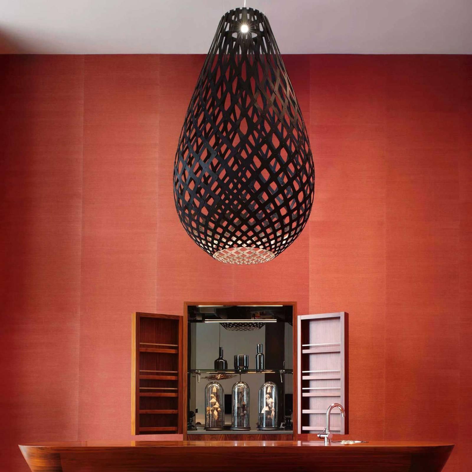 david trubridge Koura lampa wisząca 75 cm czarna