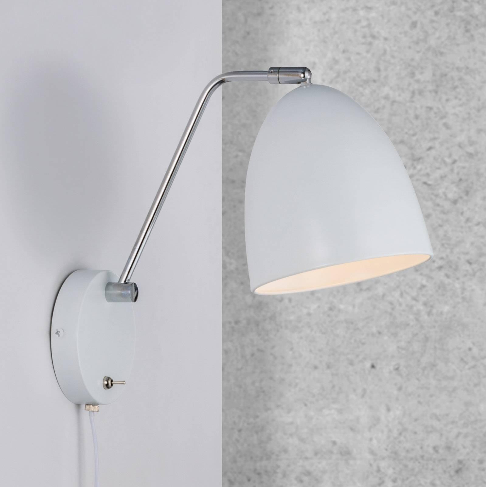 Billede af Alexander væglampe med kabel og stik, hvid