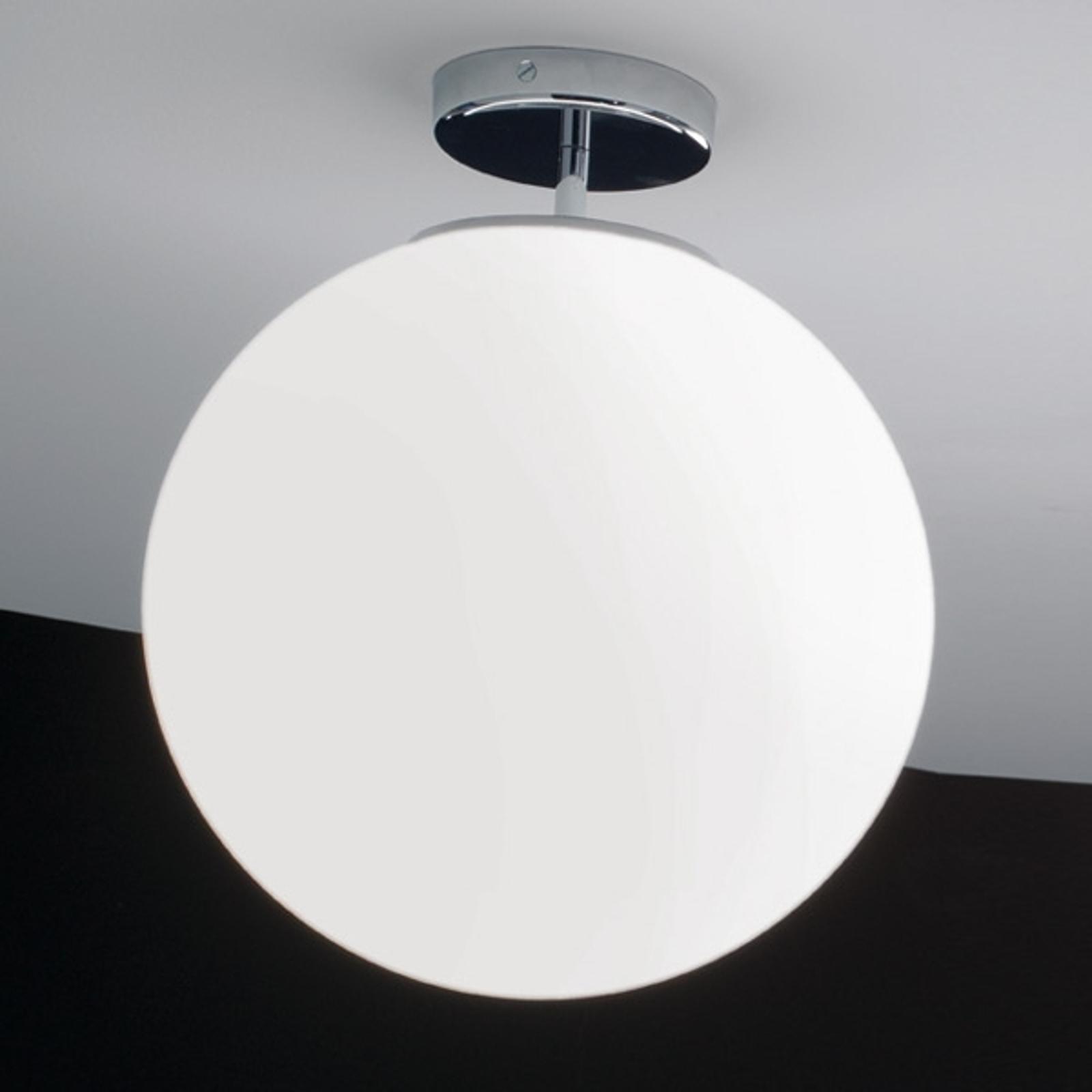 Szklana lampa sufitowa Sferis 40 cm chromowana