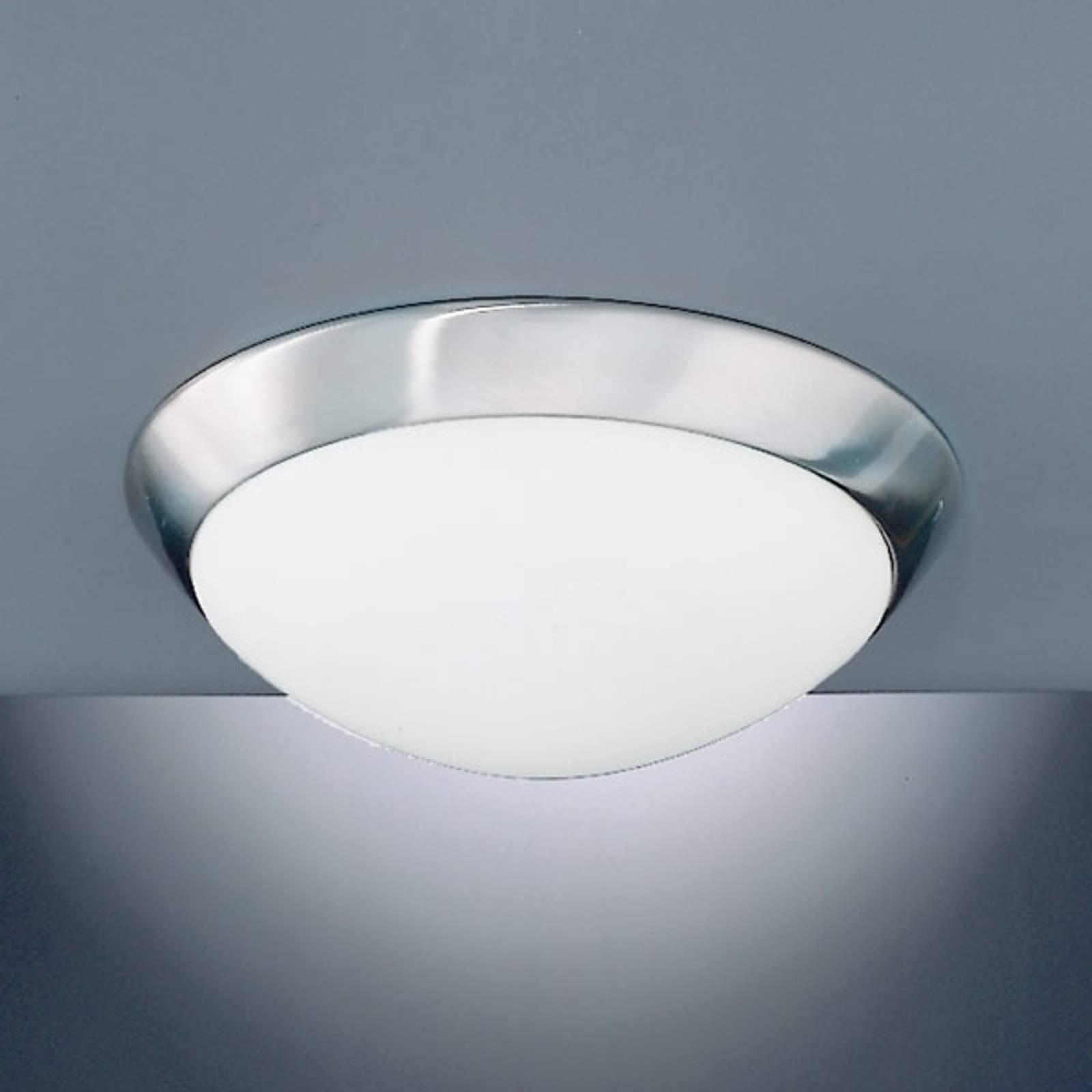 Ładna lampa sufitowa KATRIN IP44, matowy nikiel