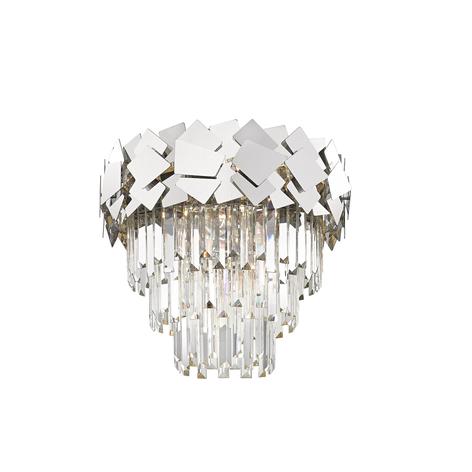 Lucande Miraia plafonnier en cristal, miroir