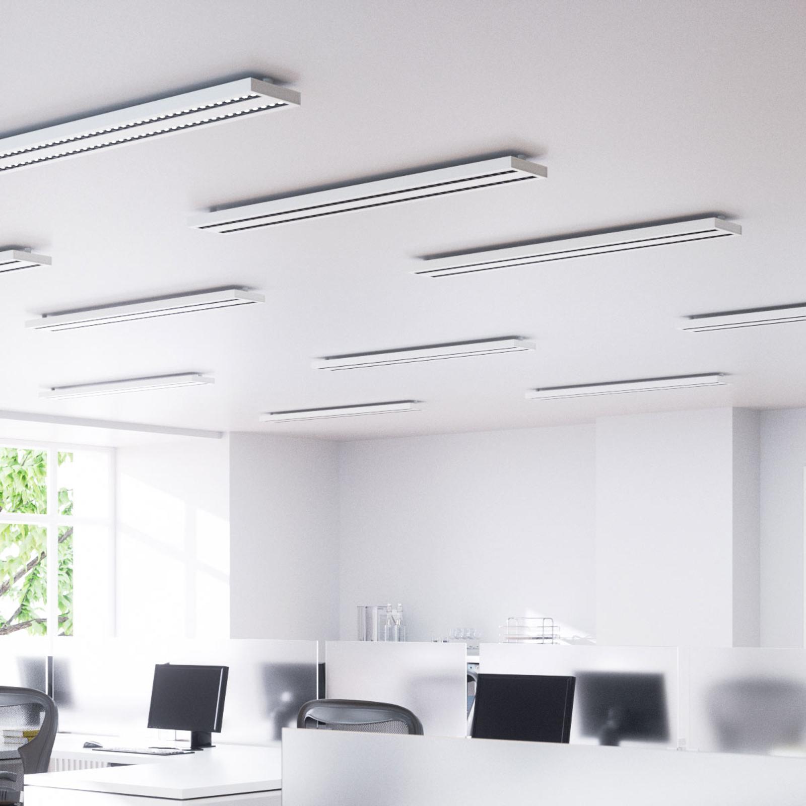 Plafonnier LED de bureau Jolinda, à deux rangées