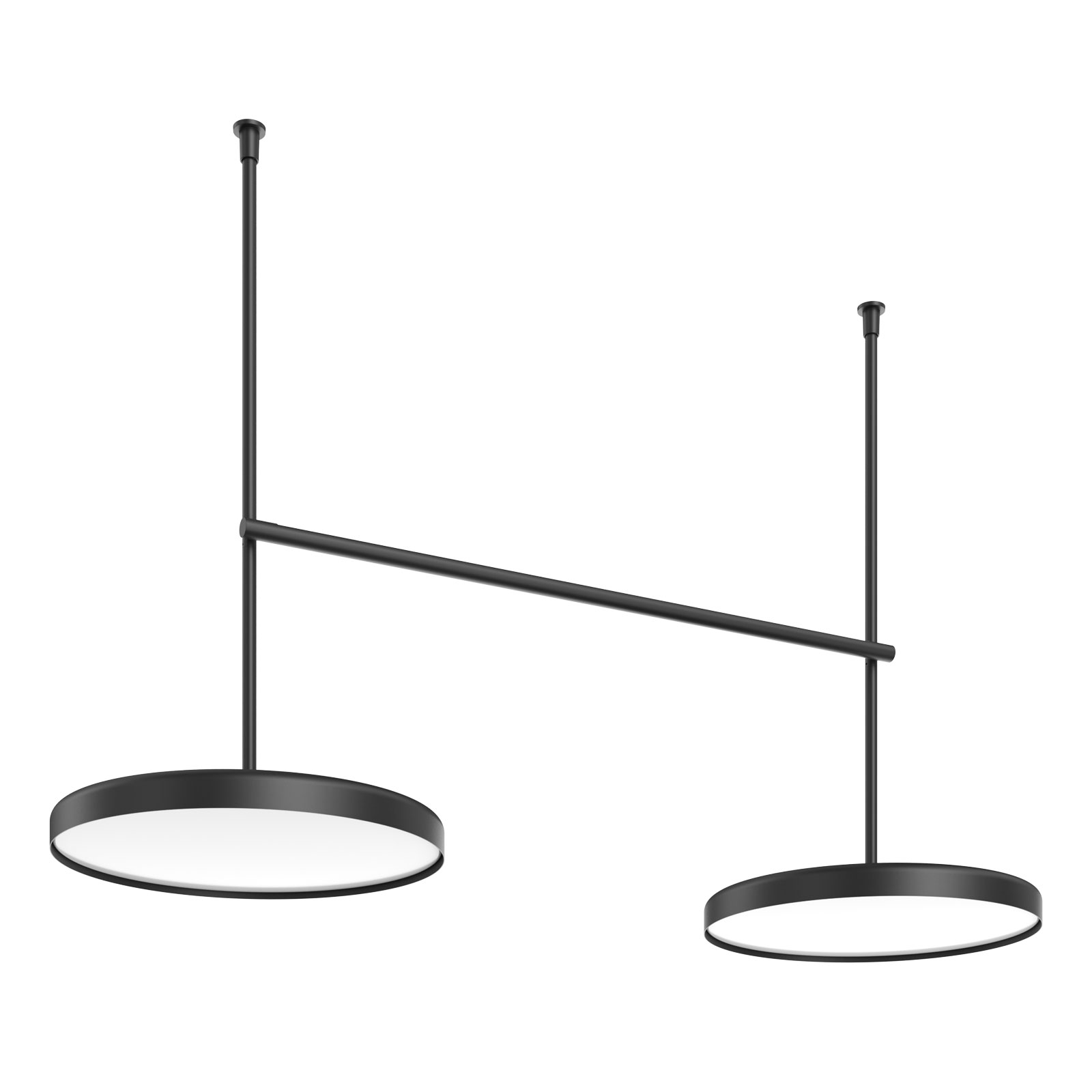 FLOS Infra-Structure C4 LED-Deckenlampe schwarz