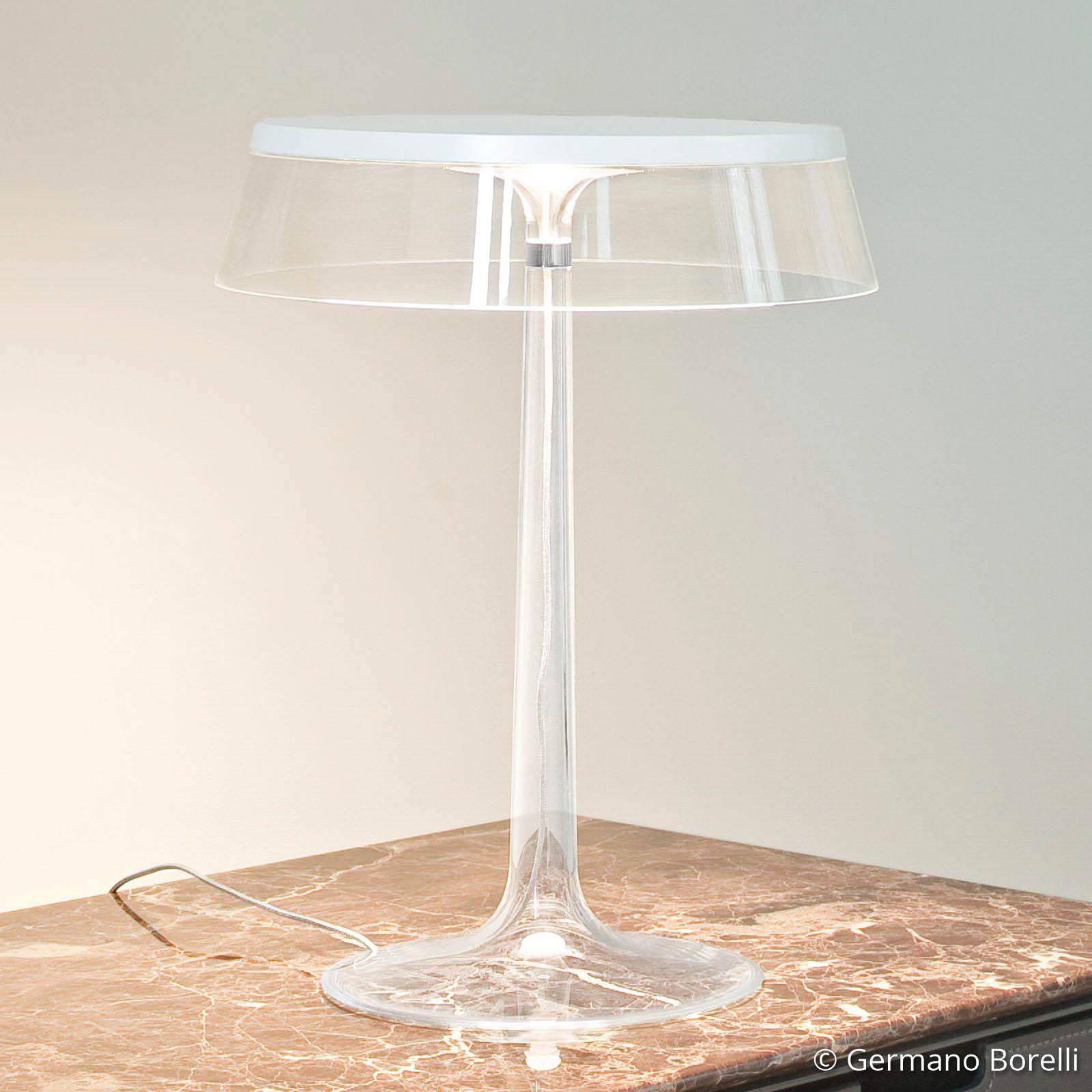 Designer-bordslampa Bon Jour med LED-lampor