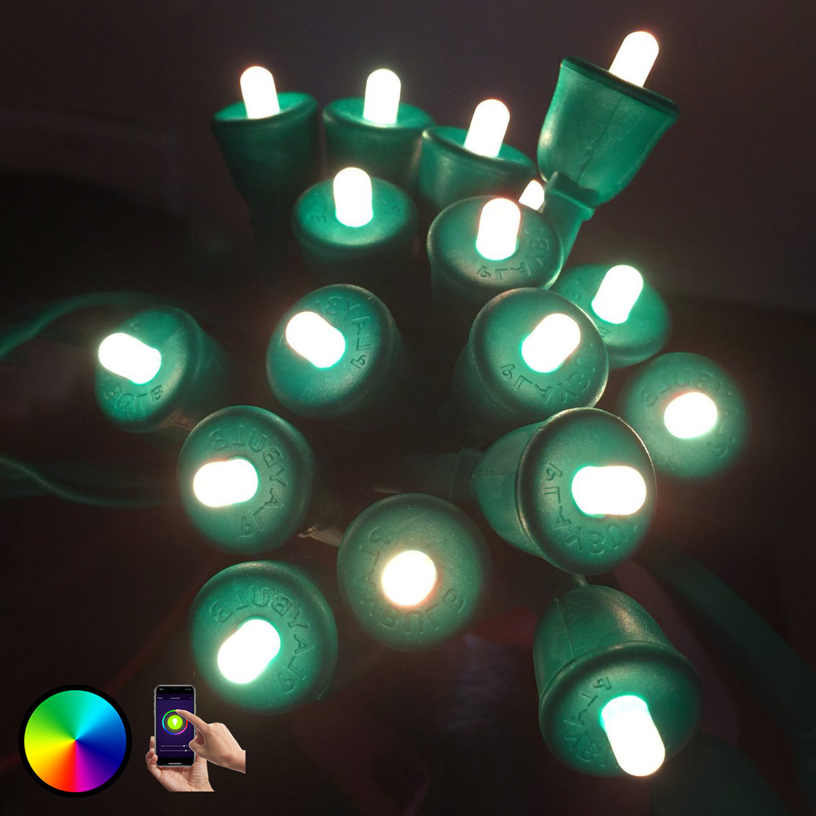 MiPow Playbulb String cadena LED, 15 m, verde