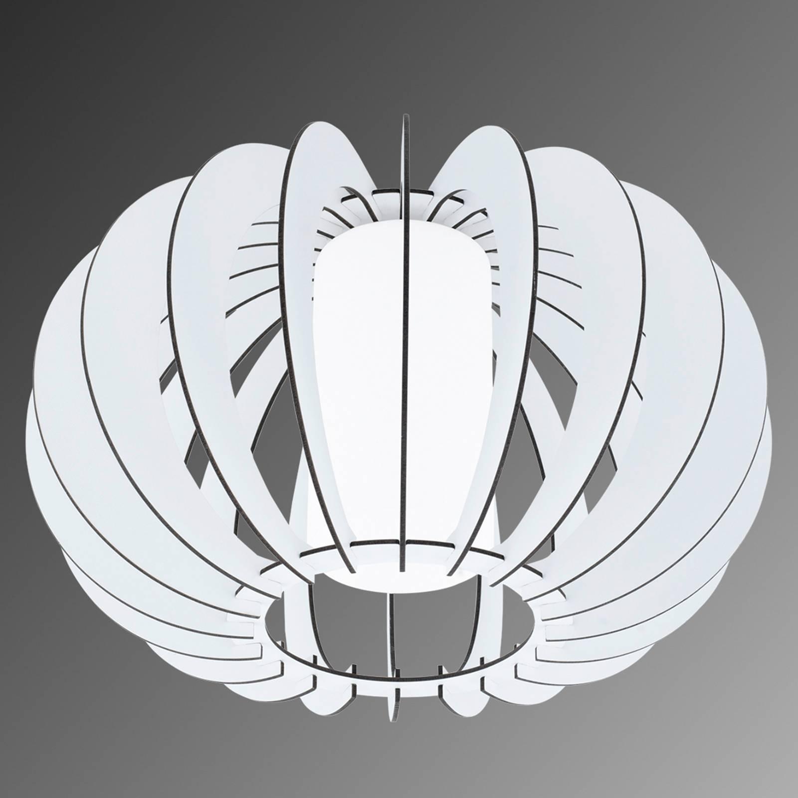 Stellato - ronde houten witte plafondlamp