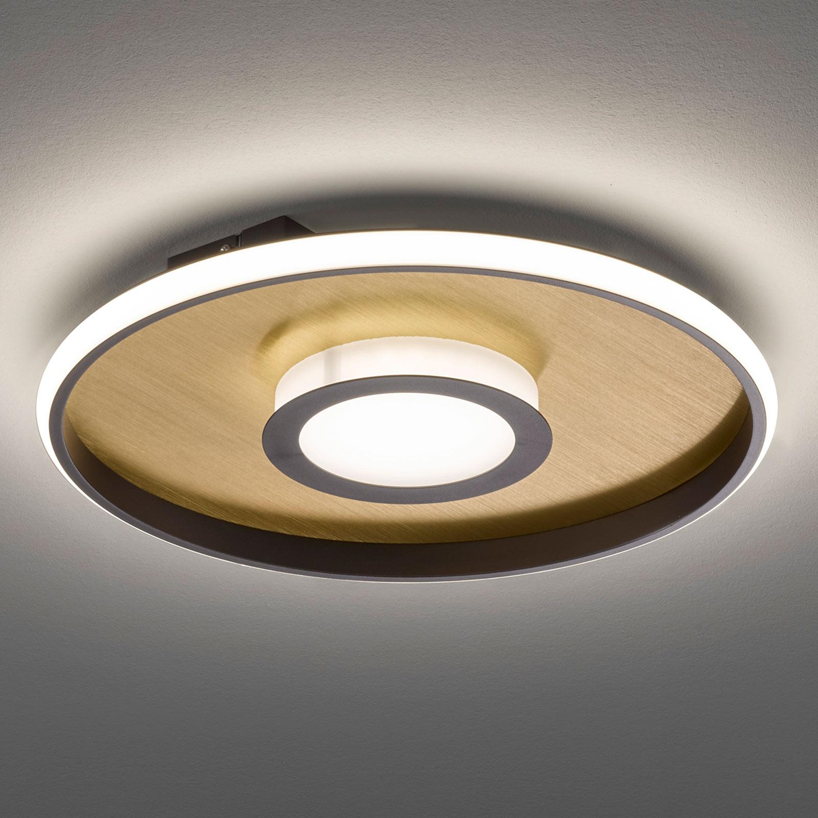 Lampa sufitowa LED Zoe, okrągła, rdzawe złoto 60cm