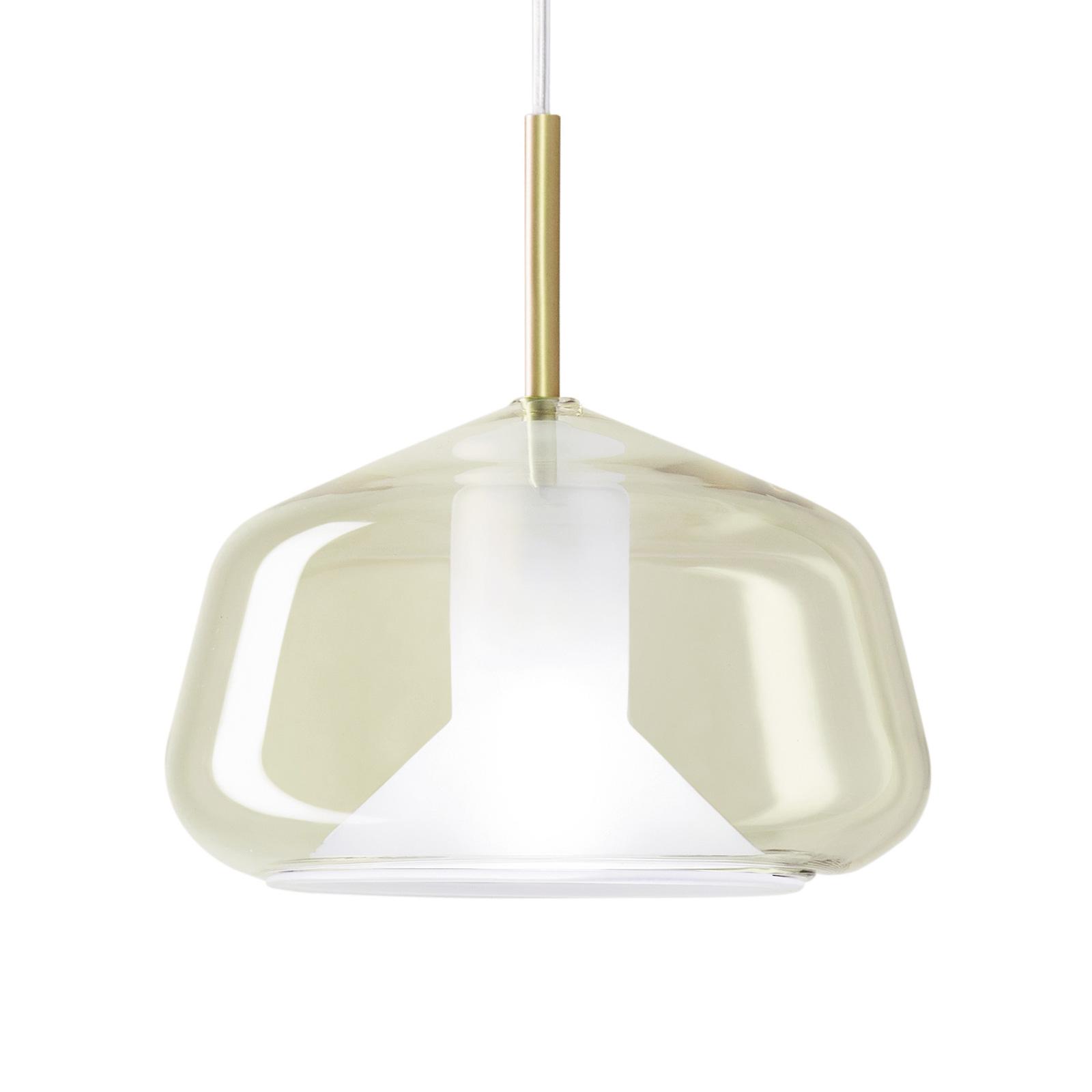 Lampa wisząca X-Ray pękaty kształt, kolory miodu