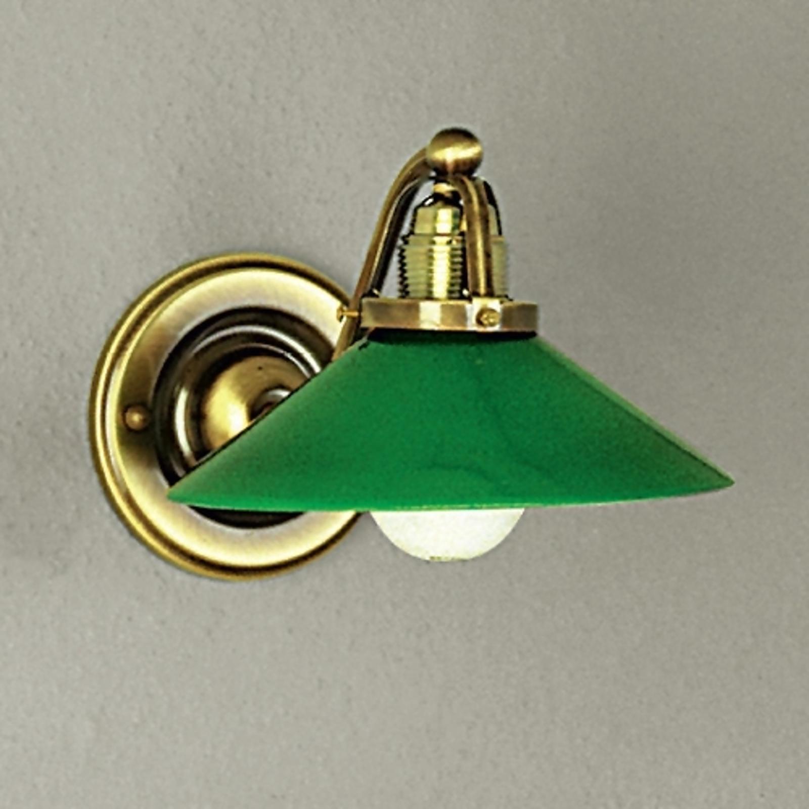 Groene wandlamp VERDINA, patina-look