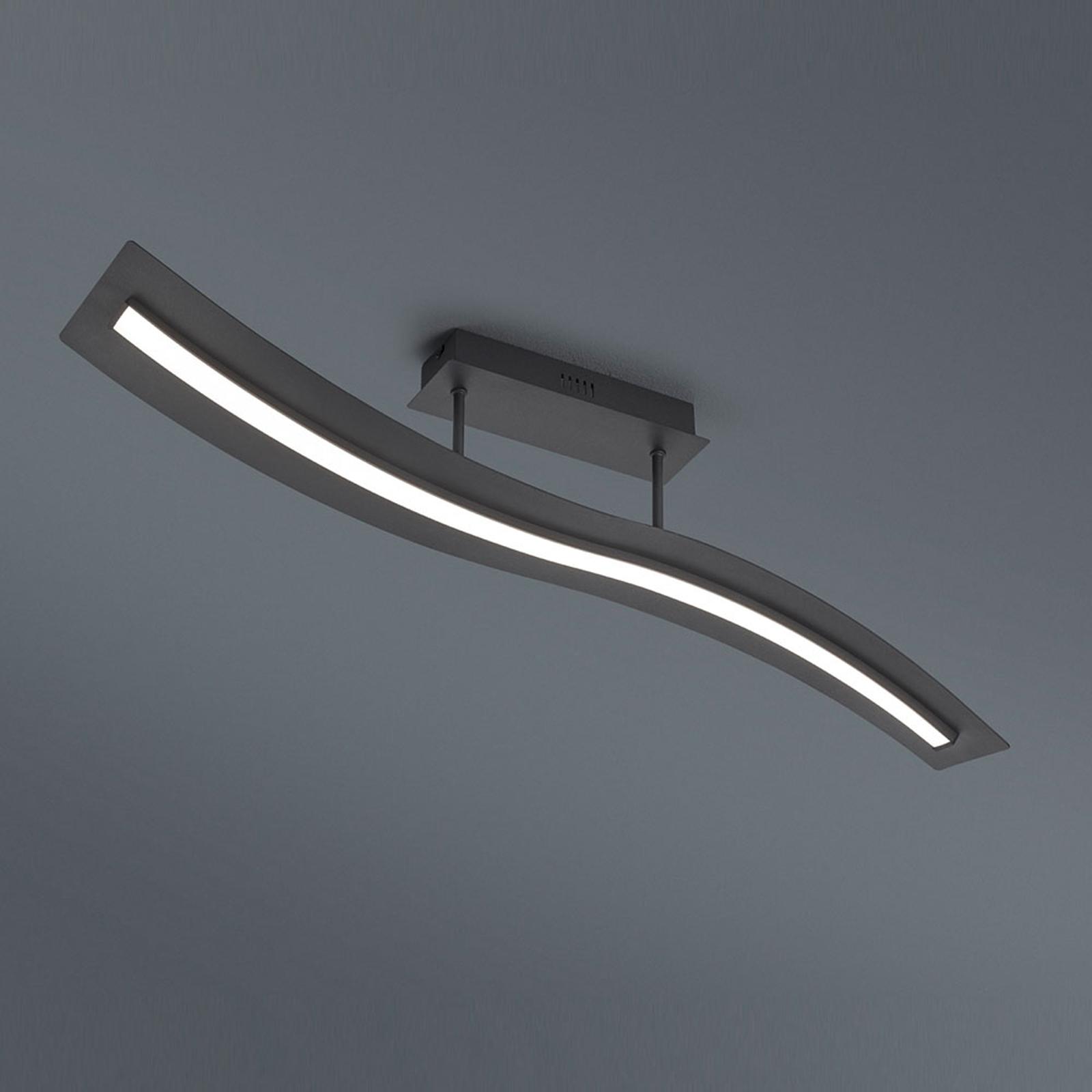 LED-taklampe Salerno, Switchdim, matt svart