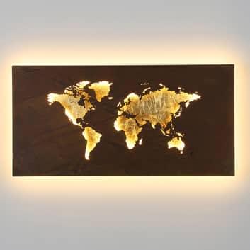 LED-vegglampe Linda i kartdesign