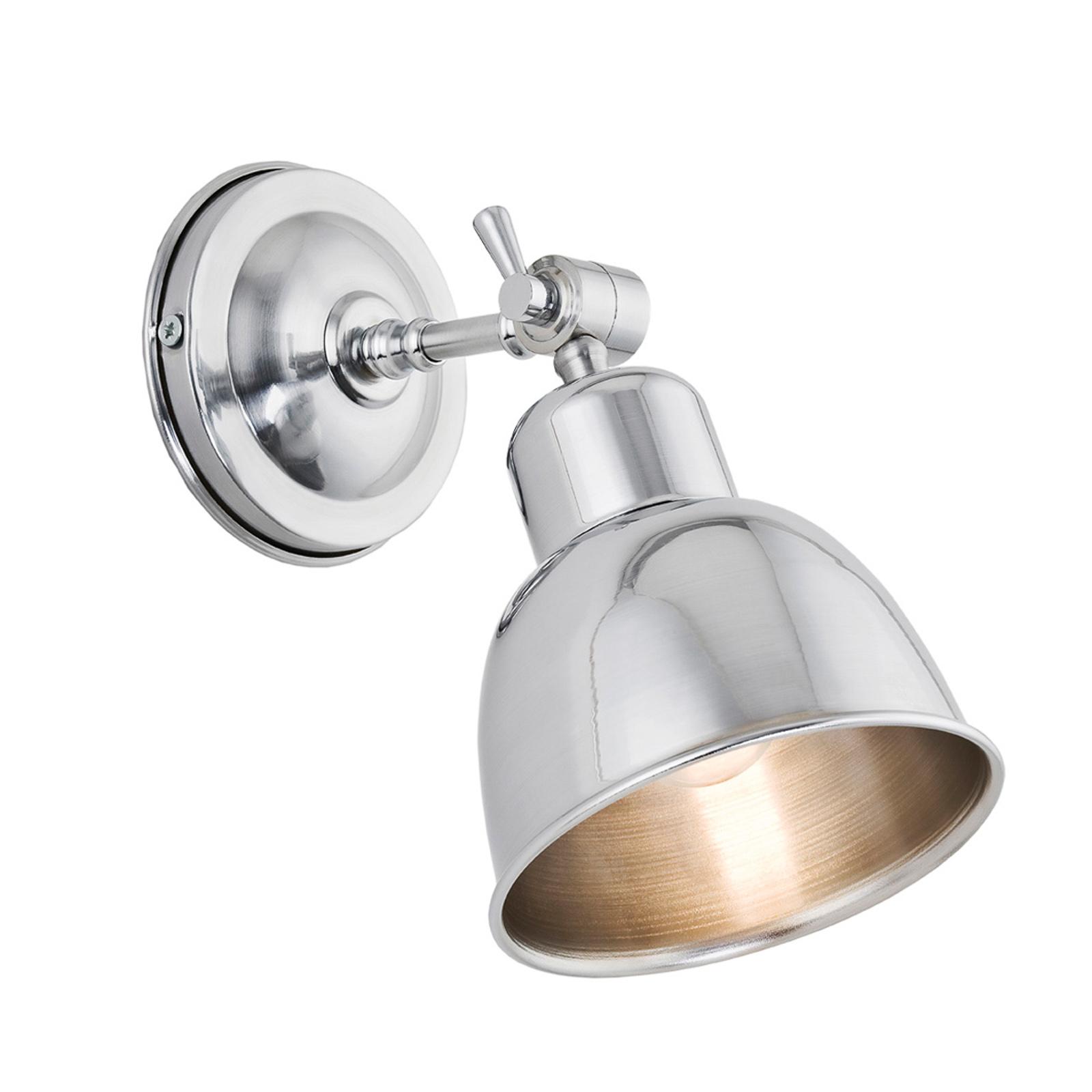 Lampa ścienna Emoti, 1-punktowa, chromowa