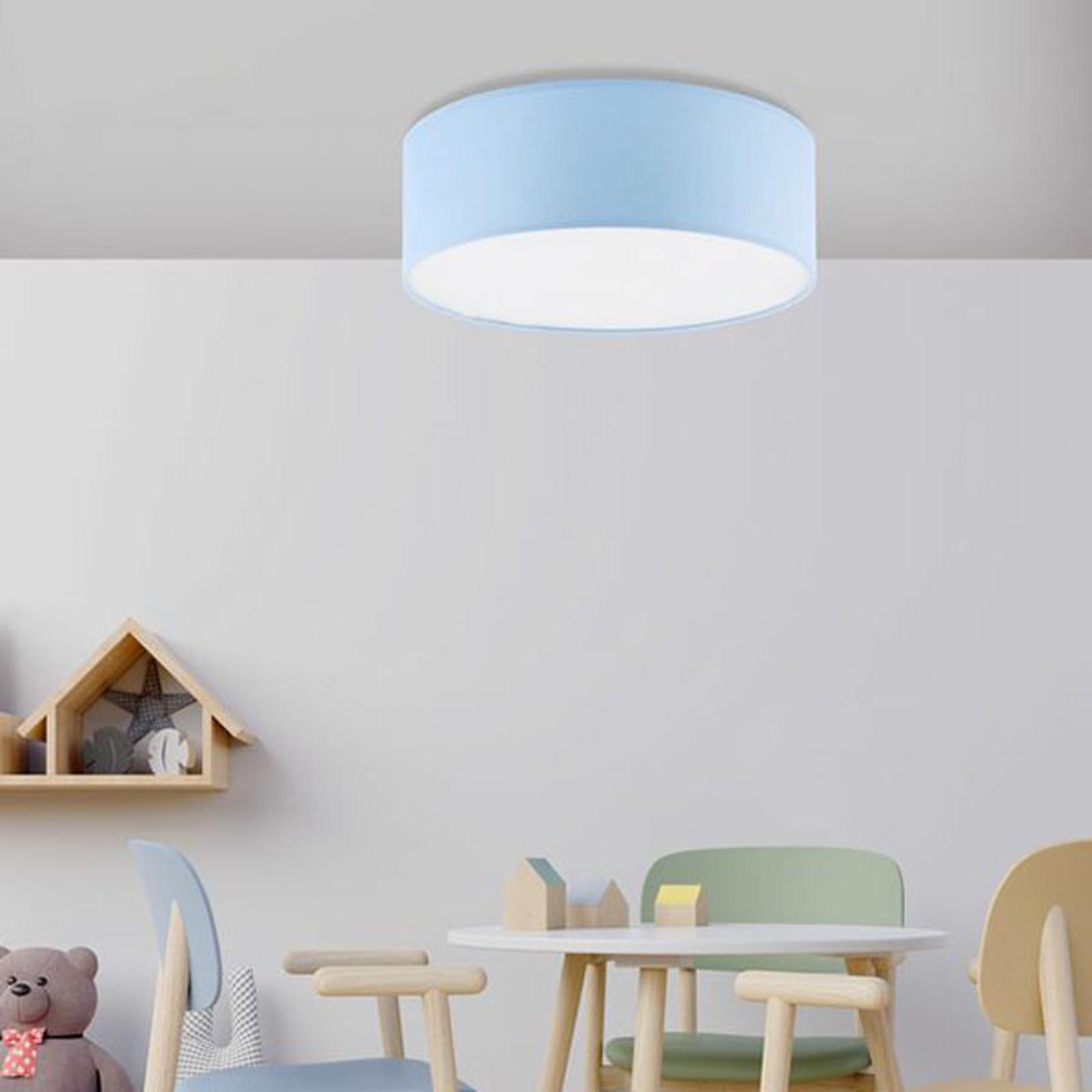 Lampa sufitowa Rondo Kids, Ø 38 cm, niebieska