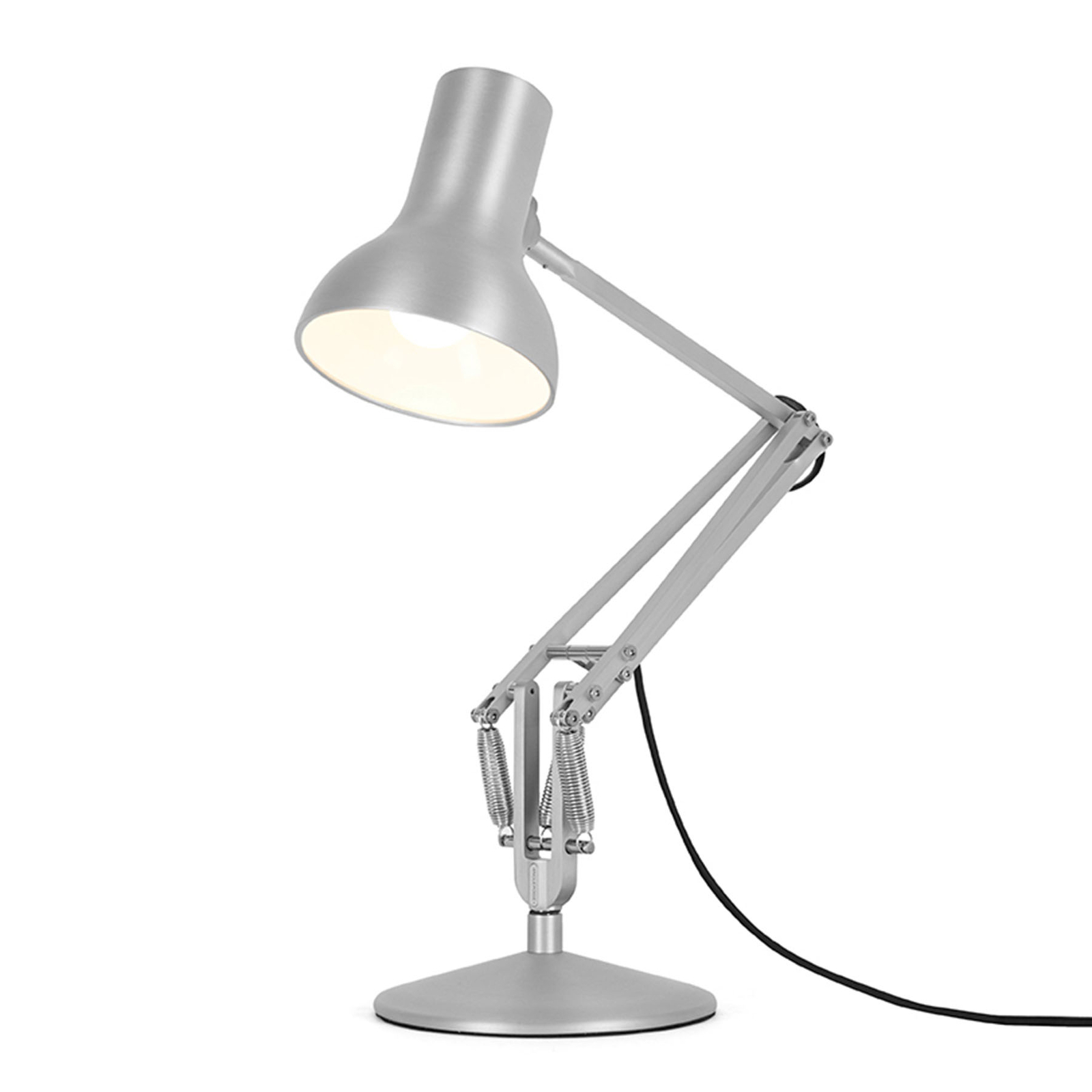 Anglepoise Type 75 Mini Metallic table argent bril