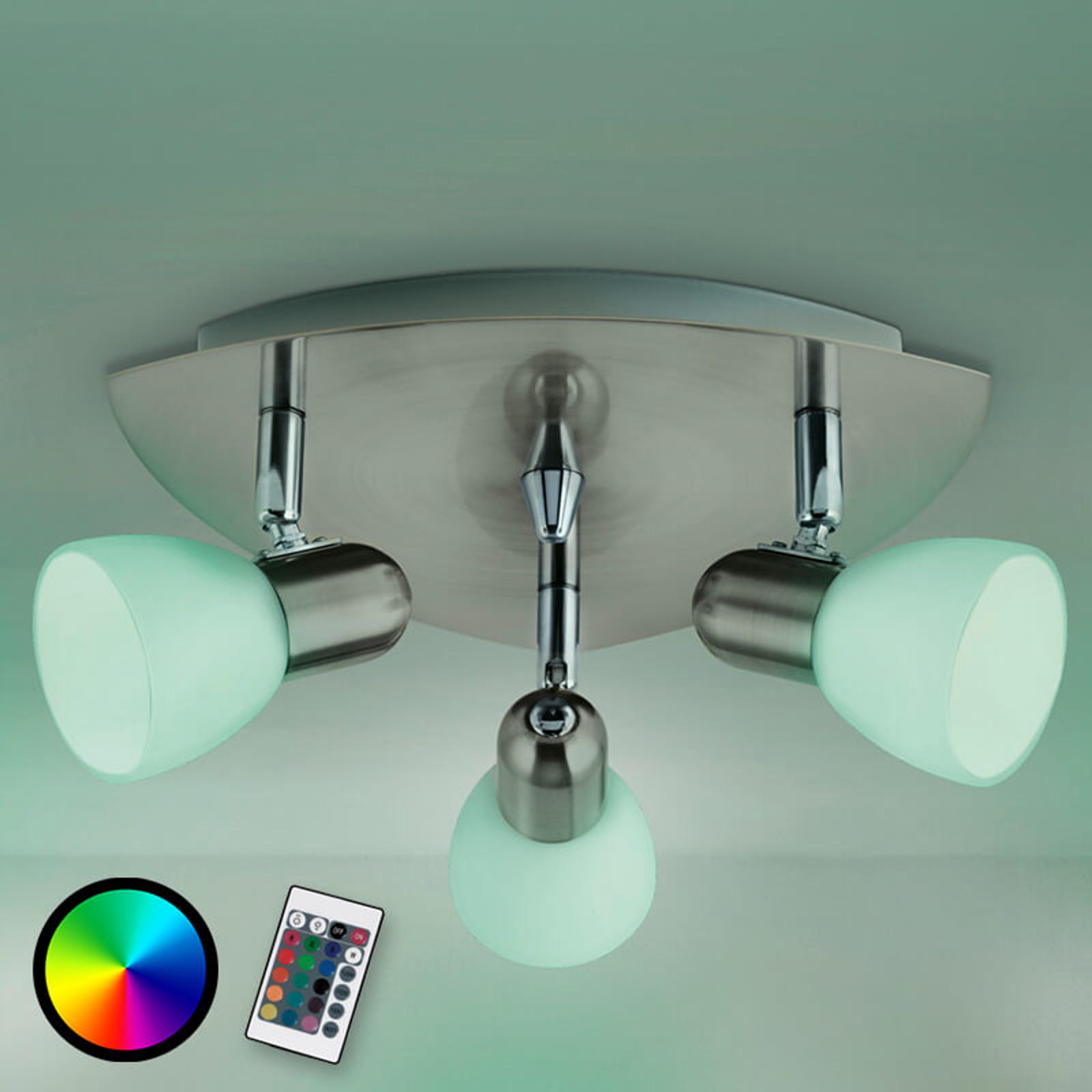 3-punktowa lampa sufitowa Enea-C LED RGBW