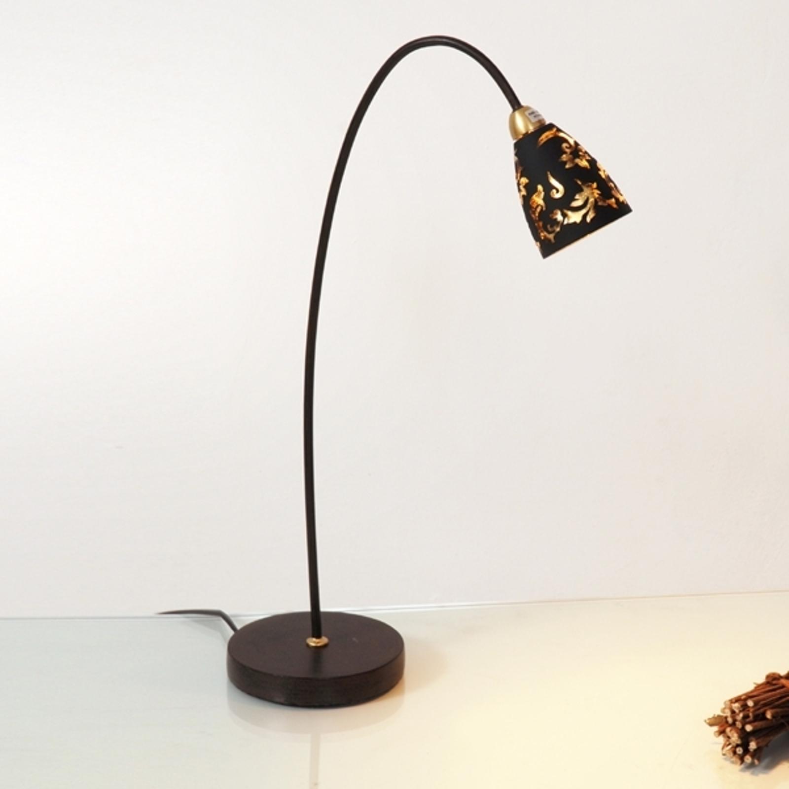 Produktové foto J. Holländer Stolní lampa Alice, stínidlo černé zlaté
