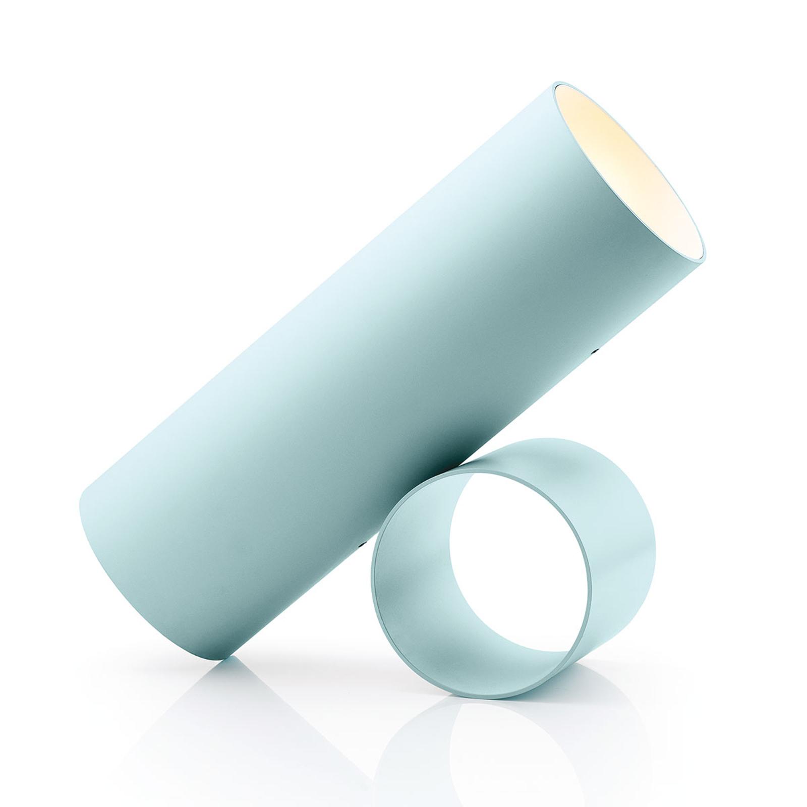 FLOS Sawaru LED-Tischleuchte, verstellbar blaugrau