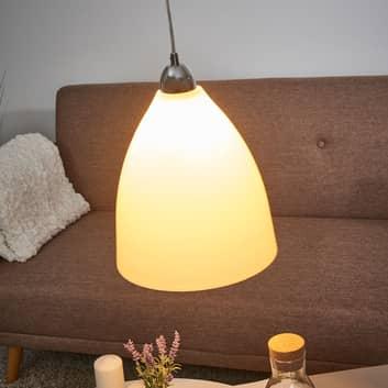 Lámpara colgante PROVENZA de vidrio blanco