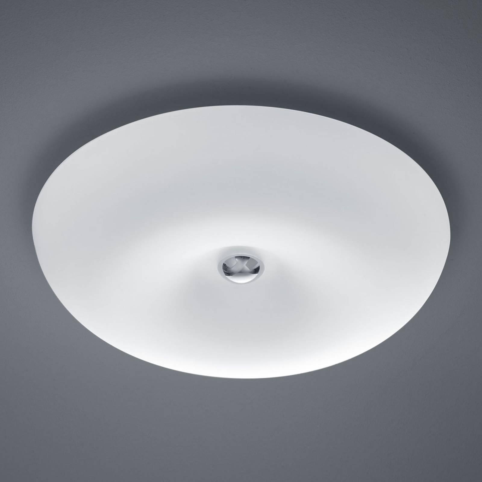 BANKAMP Vanity glas-plafondlamp LED, nikkel